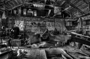 Later days of a cowshed by wchild