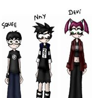 Squee, Nny and Devi by Beth-Star