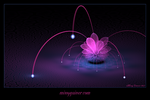 Spacy Pink Flower by MissyGainer