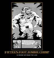 Fifteen-Foot Zombie Chimp by redkintoba
