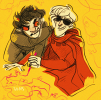 Karkat and Dave by SIIINS