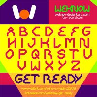 Get Ready font by weknow by weknow
