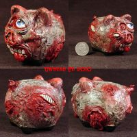 Rot Piggy Zombie bank eye by Undead-Art