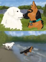 Canidae Mayhem Match - Ghost playing with Canon by Nahorse