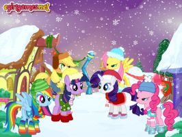 My Little Pony Winter Fashion by kimpossiblelove