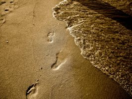 disappearing footsteps by OnlyGingerWithASoul