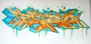 Peso Yellow Sketch by P-E-S-O