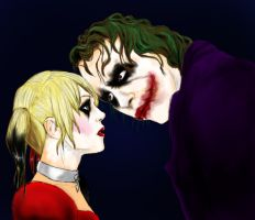 Joker and Harley by Evymonster9406