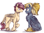 Two Little Colts by notaguitarfret