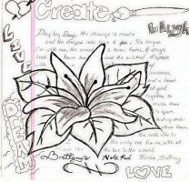 Pen Flower and Poem by Paige-Gale9507