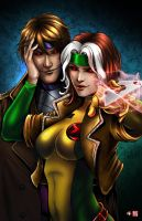Rogue and Gambit by TyrineCarver
