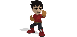 [MMD] SSB Wii U Mii Brawler DL by ShadowlesWOLF