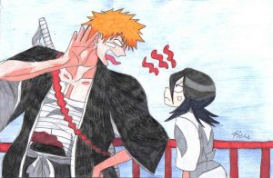 Ichigo and Rukia by hoshinoame