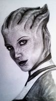 Liara (close-up) by GearsGirl6295