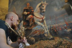 working on a picture Sviatoslav the Brave(2011) by Vladimir-Kireev