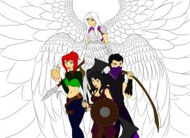 Angel, Demons, and a Reaper [WIP] by Zyanevra