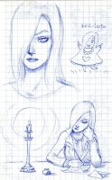 Czarine's Leora sketches by WAH-HOO