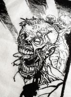 Walking Dead Embroidery by RebeccaSDesign