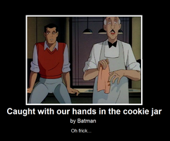 Batman TAS DeMot Poster: Hands in the Cookie Jar by AnonAmanda