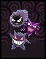 Gastly Line-up! by Dawns-Envy