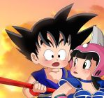 Goku and chi chi by SaiyanGoddess
