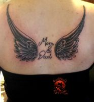 Mom And Dad tattoo by shaddow3333