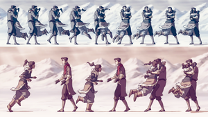 Makorra Wallpaper (Book 1: Air finale) by U-No-Poo