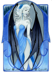 - COMMISSION -  Lilith Art nouveau by ooneithoo