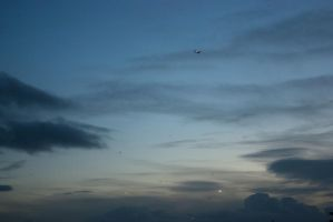 Planes in the sky by steppelandstock
