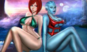 Leliana and Liara by xkalipso