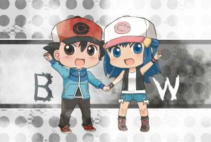 Ash and Dawn BW by Trainer-Satoshi