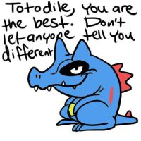 Totodile by JHALLpokemon