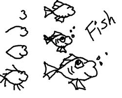 how to draw: a simple fish by articfoxice