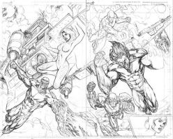 Squadron Supreme 12 pg 4 and 5 by Kevin-Sharpe