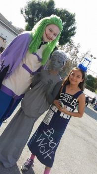 joker, weeping angel, and the TARDIS by Bella-Sophie817