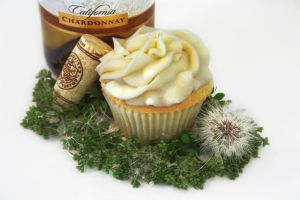 Pear Chardonnay Cupcake by FightTheAssimilation