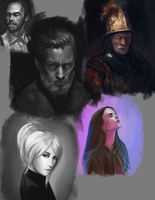 Portrait Studies by BABAGANOOSH99