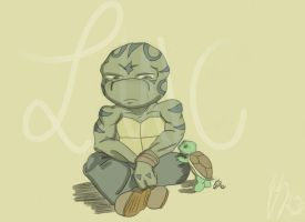 Sitting and Chillin' -TMNT- by lonesome-wolf-child
