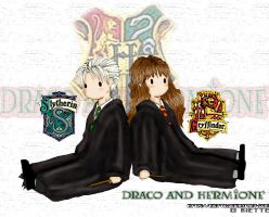 Draco and Hermione by riette