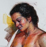Lady with Flute 2 - close up by roy-p