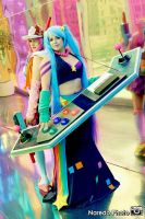 Arcade Miss Fortune and Arcade Sona by rocknroler