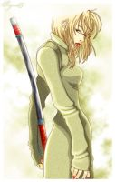 Anime Girl with Sword Picture by EyesOnTutorials
