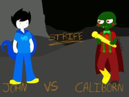 WHO WILL WIN? JOHN VS CALIBORN by Cheezit1x1