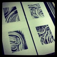 Series of eight arts by tolagunestro