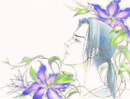 Tessen - Jin with Clematis by aruarian-dancer