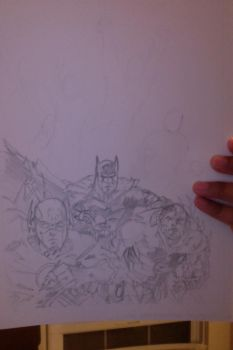 Justice League #1 Practice (Unfinished) by Karantheartist