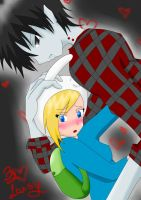 Marshall lee x Fionna by Lassy-ruaf-ruaf