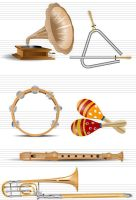 Graphic Mania Music Instruments Vector Pack by rafiqelmansy