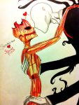 .:: Slenderman x Scarlet Fitch ::. by XxLevanaxX