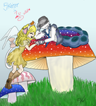 Skater and Stella (alice in wonderland) by rachie-may845